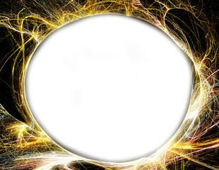 Circular fractal frame