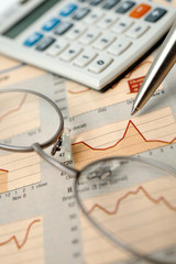 Stock charts and calculator
