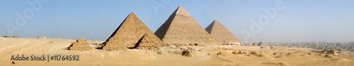 Leinwandbild Motiv The Giza Pyramids Panorama