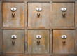 Antique Wood Filing Cabinet Drawers