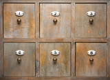 Antique Wood Filing Cabinet Drawers poster