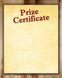 prize certificate poster