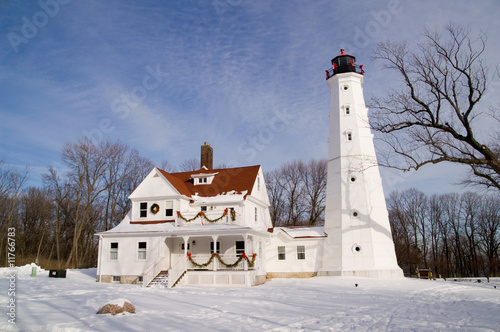 Foto op Plexiglas Grote meren Milwaukee North Point Lighthouse