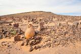 Old Muslim cemetery in Sahara desert region poster
