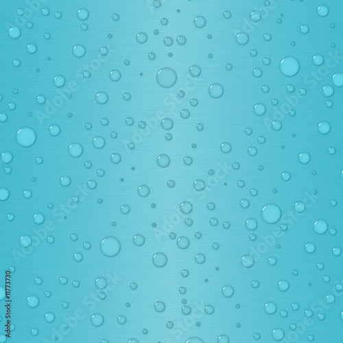 Gradient background in bright blue with waterdrops