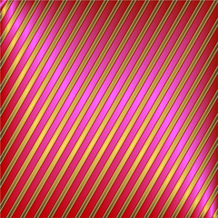 Diagonal pink and golden striped background (vector)