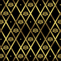 Black and golden geometric background