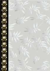 Vintage  floral  frame (vector)
