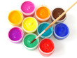 colorful gouache paints
