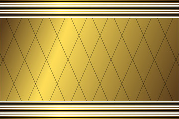 Geometric golden background (vector)