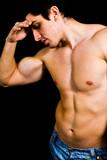 Muscular sexy bodybuilder