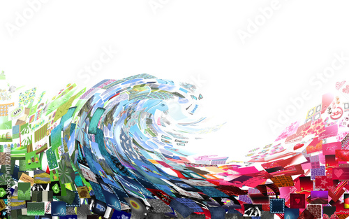 Papiers peints Abstract wave tourbillon d'images