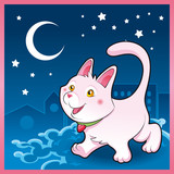Baby pussy cat in the night poster