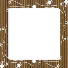 Cardboard Frame With Swirls