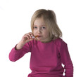 Sick Child With Thermometer
