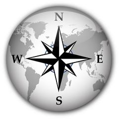 Compass button (white/black)