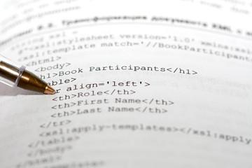 Part of XAML code
