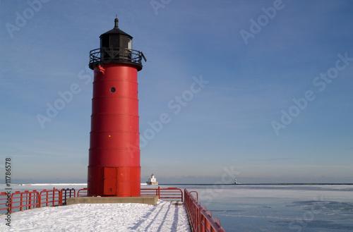 Staande foto Grote meren Milwaukee Pierhead Lighthouse