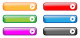 Fototapety Rectangular Buttons (various colours)