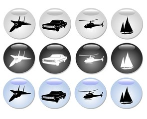 Vehicles Web Button Set