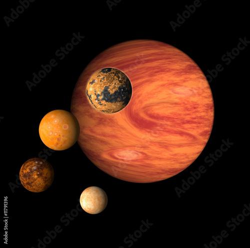 Jupiter and its moons - 11791396