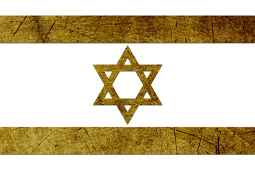 israel flag with metal texture