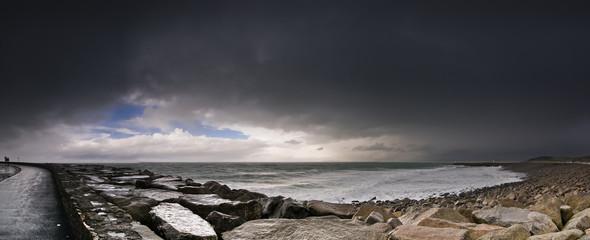 Panaroma tempête port de Diélette
