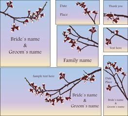 cherry branch wedding set