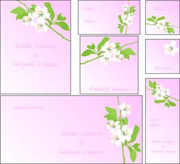 cherry blossom wedding set