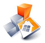 Fototapety logo de maison et graphique