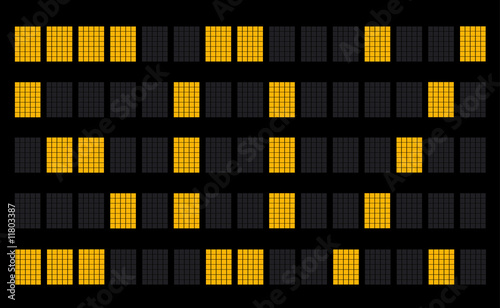 Dot Matrix Wall Board - 50%