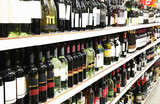 Fototapeta butelek - supersam - Na zakupach