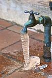 frozen dripping faucet