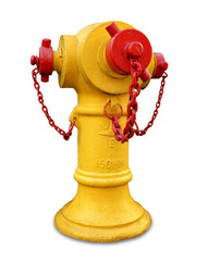 Yellow Fire hydrant isolated