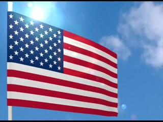 american flag to fly