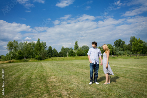 couple in a beautiful field
