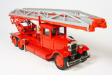 Metal collection scale model the red fireman of a retro the car poster