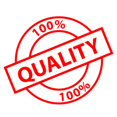 """""""100% Quality"""" stamp (red)"""