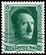 1937 vintage german postage stamp of Adolf Hitler