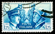 vintage ww2 stamp depicting the dictators Hitler and Mussolini