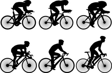 bicycle race silhouettes