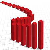 Chart graph profit increase poster