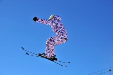 girl ski jumping