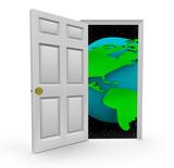 Door to a World of Opportunities poster