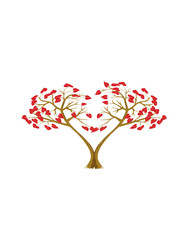 Two heart trees