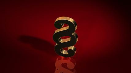goldenes Paragraphenzeichne auf rotem Hintergrund