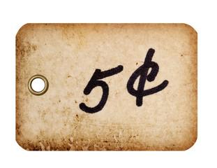Price Tag with Metal Grommet