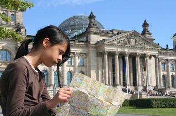Girl at the Reichstag