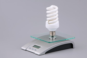 Luminescent bulb and electronic scales