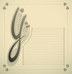 ornamental letter - Y